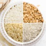 4 verschiedene Reissorten