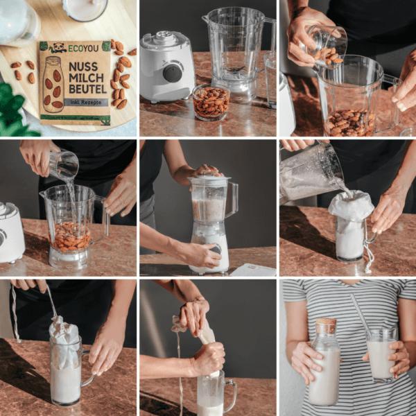 Anleitung für die Herstellung einer Nussmilch