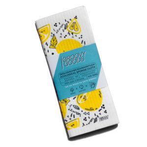 Schwammtuch mit Zitronenmotiv