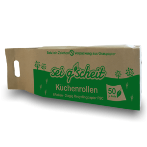 Küchenrolle in Graspapierverpackung
