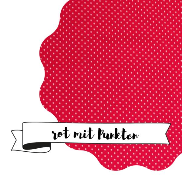 Haubi - Rot mit Punkten