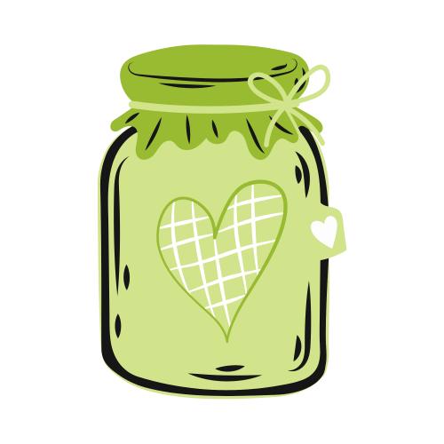 Glas mit Herz